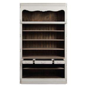 Bibliothèque blanche modulable 3 tiroirs en pin - Château - Visuel n°2