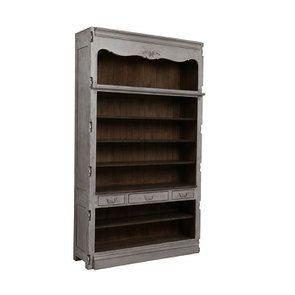 Bibliothèque modulable 3 tiroirs en pin gris argenté - Château - Visuel n°2