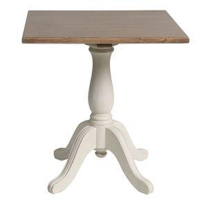 Table carrée en pin blanc vieilli 2 personnes - Château