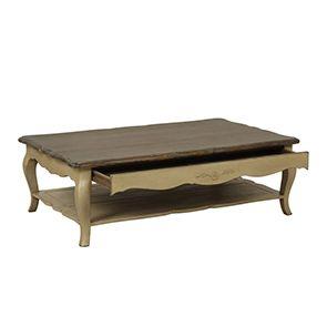 Table basse rectangulaire en pin - Château - Visuel n°4