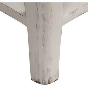 Table basse rectangulaire en pin blanc vieilli avec rangement - Château - Visuel n°8