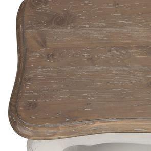 Table basse rectangulaire en pin blanc vieilli avec rangement - Château - Visuel n°9