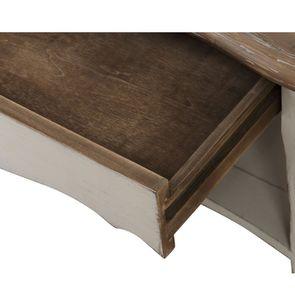 Table basse rectangulaire en pin blanc vieilli avec rangement - Château - Visuel n°11