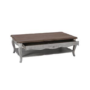 Table basse rectangulaire en pin avec rangement - Château - Visuel n°6