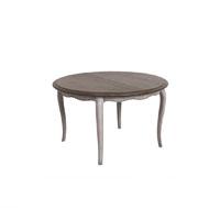 Table ronde extensible en pin 4 à 8 personnes - Château