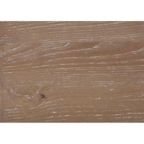 Table de chevet 1 tiroir 1 porte en pin blanc vieilli - Château - Visuel n°14