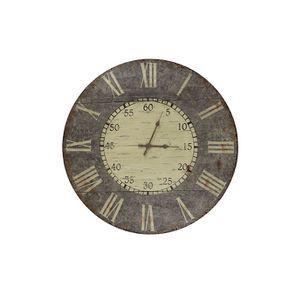 Horloge en bois vieilli - Visuel n°1