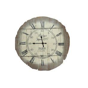 Horloge murale décorative en bois - Visuel n°1