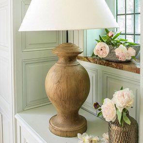 Lampe sur pied en bois naturel et lin - Visuel n°10