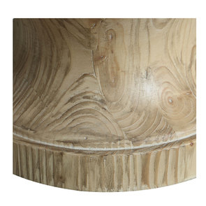 Lampe sur pied en bois naturel et lin - Visuel n°19