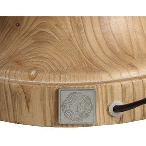 Lampe sur pied en bois naturel et lin - Visuel n°20