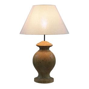 Lampe sur pied en bois naturel et lin - Visuel n°13