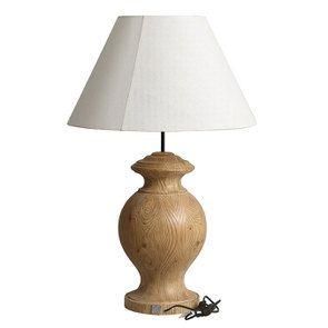 Lampe sur pied en bois naturel et lin - Visuel n°16