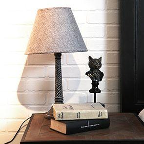 Lampe grise en bois