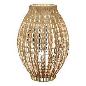 Lampe à poser en rotin H36 cm - Visuel n°1