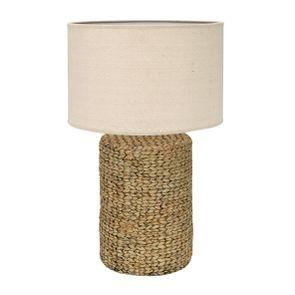 Lampe ciment effet rotin XL