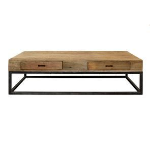 Table basse rectangulaire industrielle - Transition