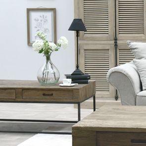 Table basse rectangulaire industrielle avec rangement - Transition - Visuel n°2