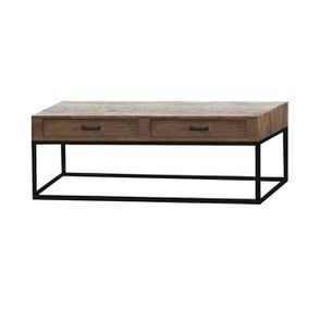 Table basse rectangulaire industrielle avec rangement - Transition