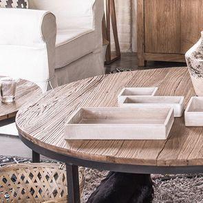 Tables basses gigognes industrielles en orme et métal - Transition - Visuel n°5