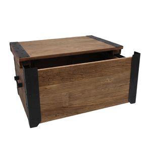 Table basse coffre industrielle en orme recyclé - Transition - Visuel n°4