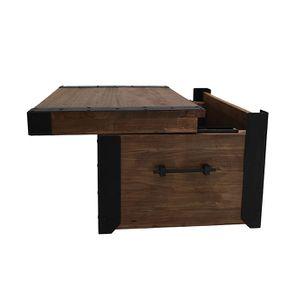 Table basse coffre industrielle en orme recyclé - Transition - Visuel n°6