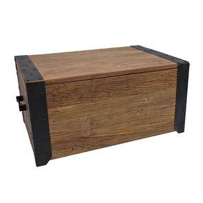 Table basse coffre industrielle en orme recyclé - Transition - Visuel n°7