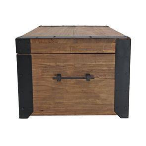 Table basse coffre industrielle en orme recyclé - Transition - Visuel n°8