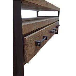Meuble TV industriel 3 tiroirs en orme recyclé - Transition - Visuel n°12