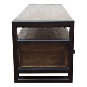 Meuble TV industriel 3 tiroirs en orme recyclé - Transition - Visuel n°7