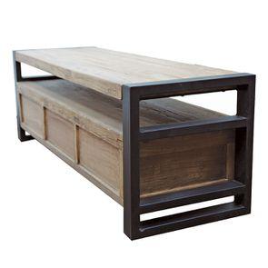 Meuble TV industriel 3 tiroirs en orme recyclé - Transition - Visuel n°8