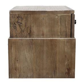 Table de chevet industriel 1 tiroir en orme recyclé - Transition - Visuel n°8