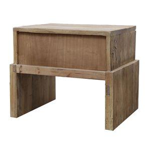 Table de chevet industriel 1 tiroir en orme recyclé - Transition - Visuel n°9