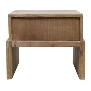Table de chevet industriel 1 tiroir en orme recyclé - Transition - Visuel n°10