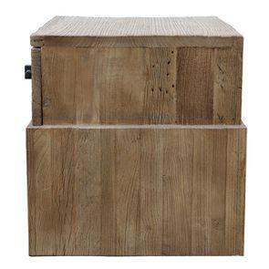 Table de chevet industriel 1 tiroir en orme recyclé - Transition - Visuel n°11