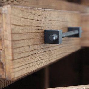 Bibliothèque industrielle 4 portes 2 tiroirs en orme recyclé - Transition - Visuel n°16