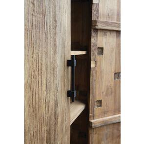 Armoire industrielle 2 portes 2 tiroirs en orme recyclé - Transition - Visuel n°12