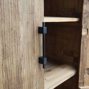Armoire industrielle 2 portes 2 tiroirs en orme recyclé - Transition - Visuel n°13