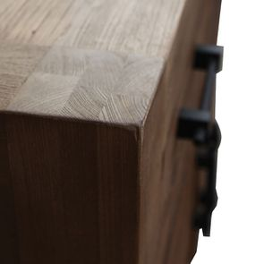 Bas de buffet industriel 2 tiroirs 2 portes en orme recyclé - Transition - Visuel n°9