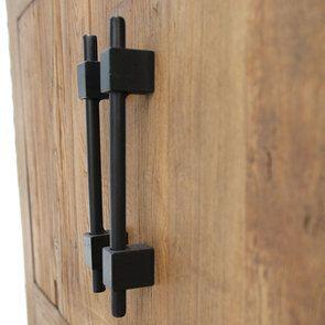 Bas de buffet industriel 2 tiroirs 2 portes en orme recyclé - Transition - Visuel n°10