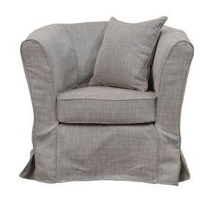 Housse pour fauteuil cabriolet en tissu beige naturel - Bristol