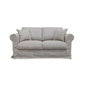 Housse pour canapé 2 places en tissu naturel - Crowson