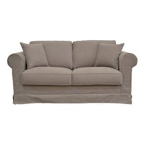 Housse pour canapé 2 places gris en tissu - Crowson