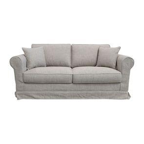 Housse pour canapé 3 places en tissu gris - Crowson