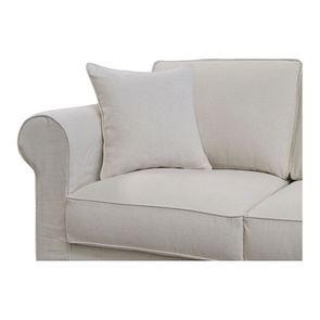 Housse pour canapé 4 places en tissu beige - Crowson