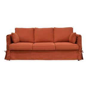 Housse pour canapé 4 places en tissu rouge - Welsh