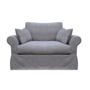Housse pour fauteuil en tissu gris - Denver