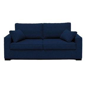 Housse pour canapé convertible 3 places en tissu bleu nuit - Malcolm