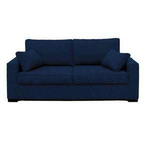 Housse pour canapé 3 places en tissu bleu nuit - Malcolm