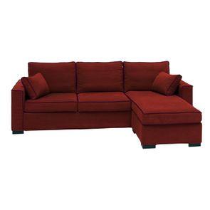 Housse pour canapé d'angle 5 places en tissu tomette - Malcolm